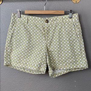 Banana Republic geometric print chino shorts